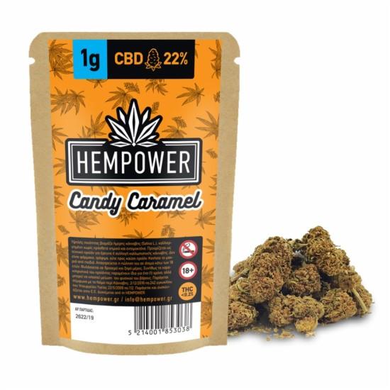 Hempower Ανθός Κάνναβης Candy Caramel 22% CBD 1G