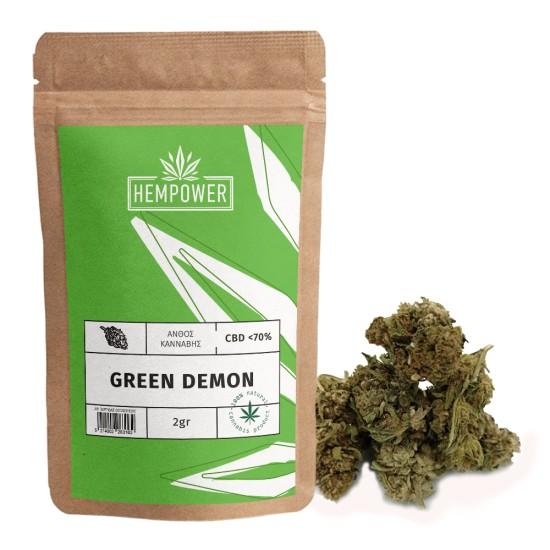 Hempower Ανθός Κάνναβης GREEN DEMON < 70% CBD 2G